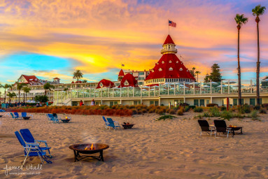 Sunset at Hotel Del Coronado