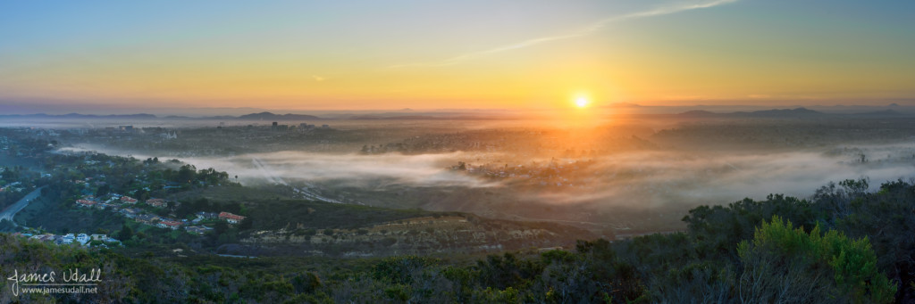 Sunrise over La Jolla, California