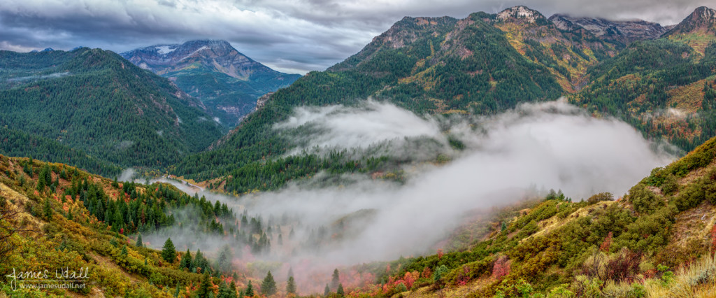 Low Clouds in American Fork Canyon in Autumn