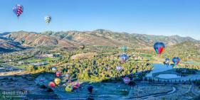 Park City Hot Air Balloons in Autumn
