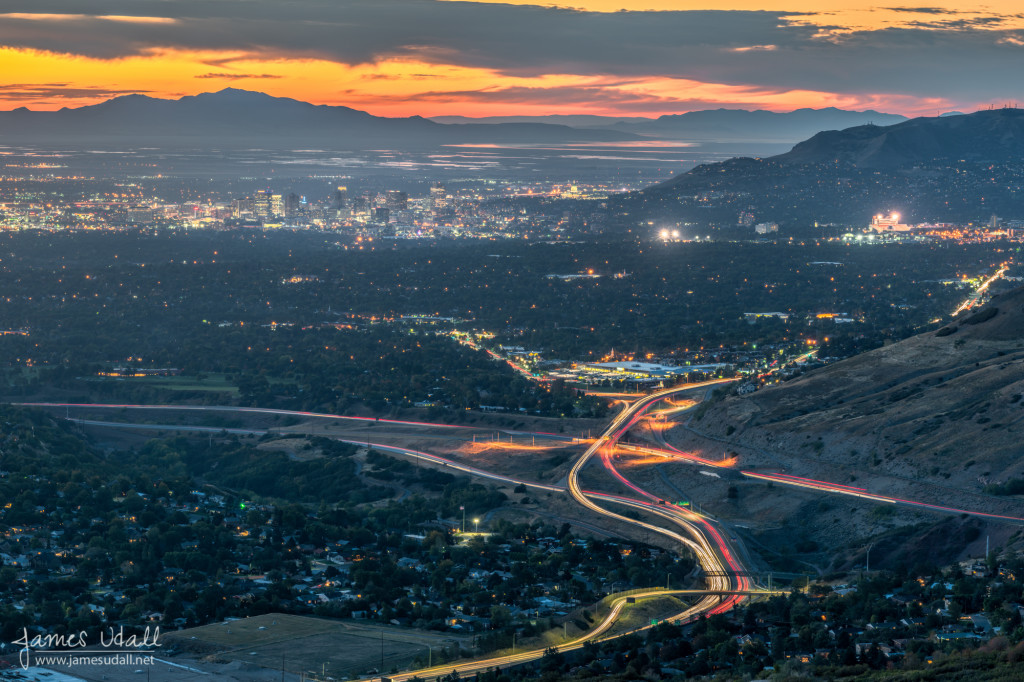 Salt Lake City after Sunset