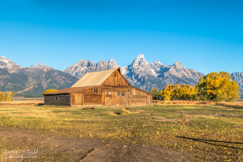 Mormon Row Barn in Autumn