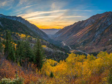 Fall Sunset in Little Cottonwood Canyon