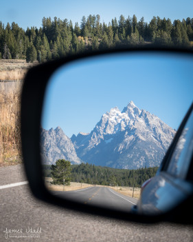 Tetons in Rear View