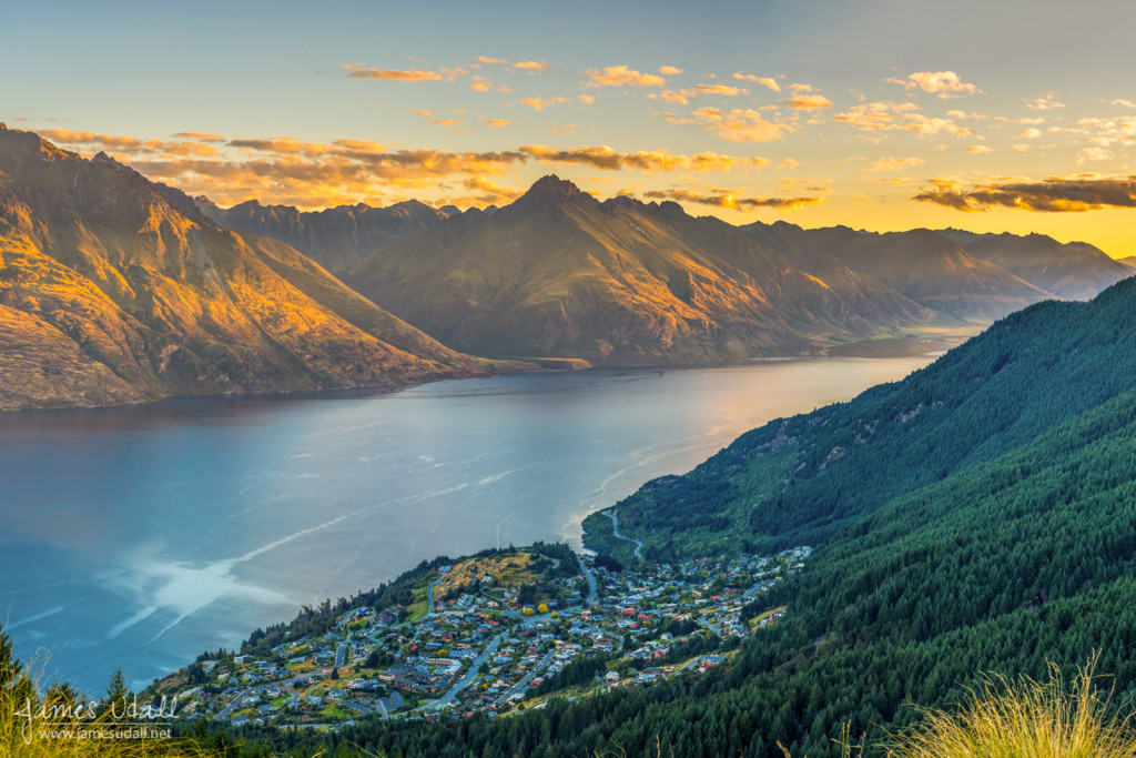 Sunset above Queenstown, New Zealand. (Prints & Licensing Available)