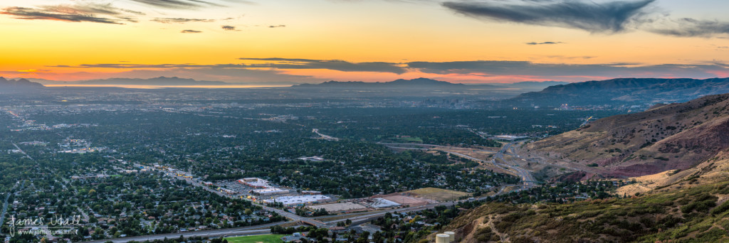 The Salt Lake Valley at Sunset