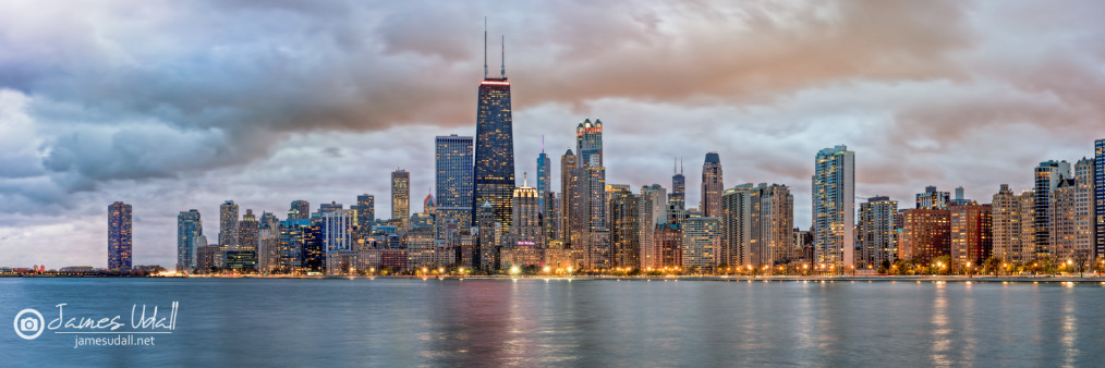 Chicago Skyline at Dusk