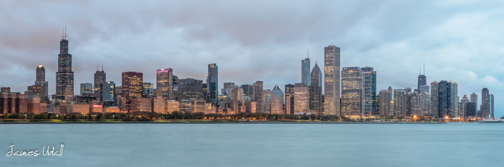 Cloudy Chicago Skyline