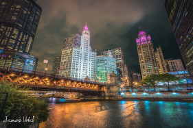 Michigan Avenue Bridge at Night