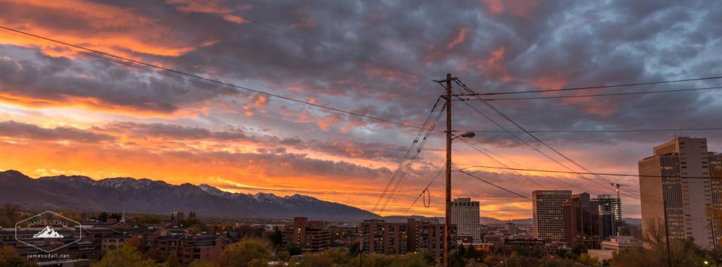 November Sunrise in Salt Lake City