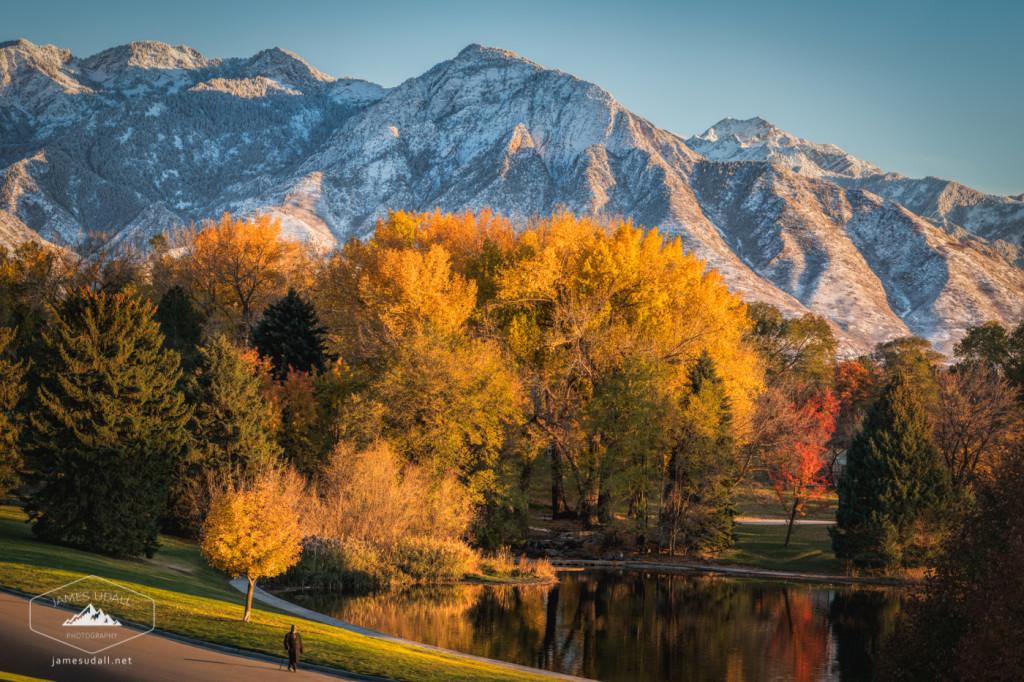 Snow in Autumn in Salt Lake City