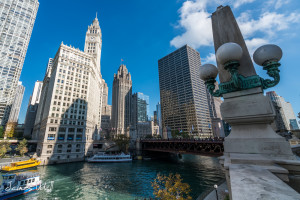 The Chicago River and Wrigley Building