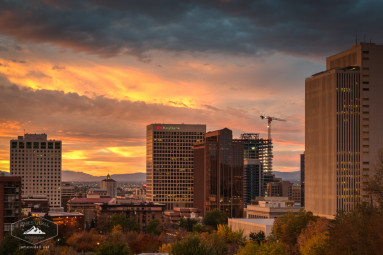Sunrise over Downtown Salt Lake