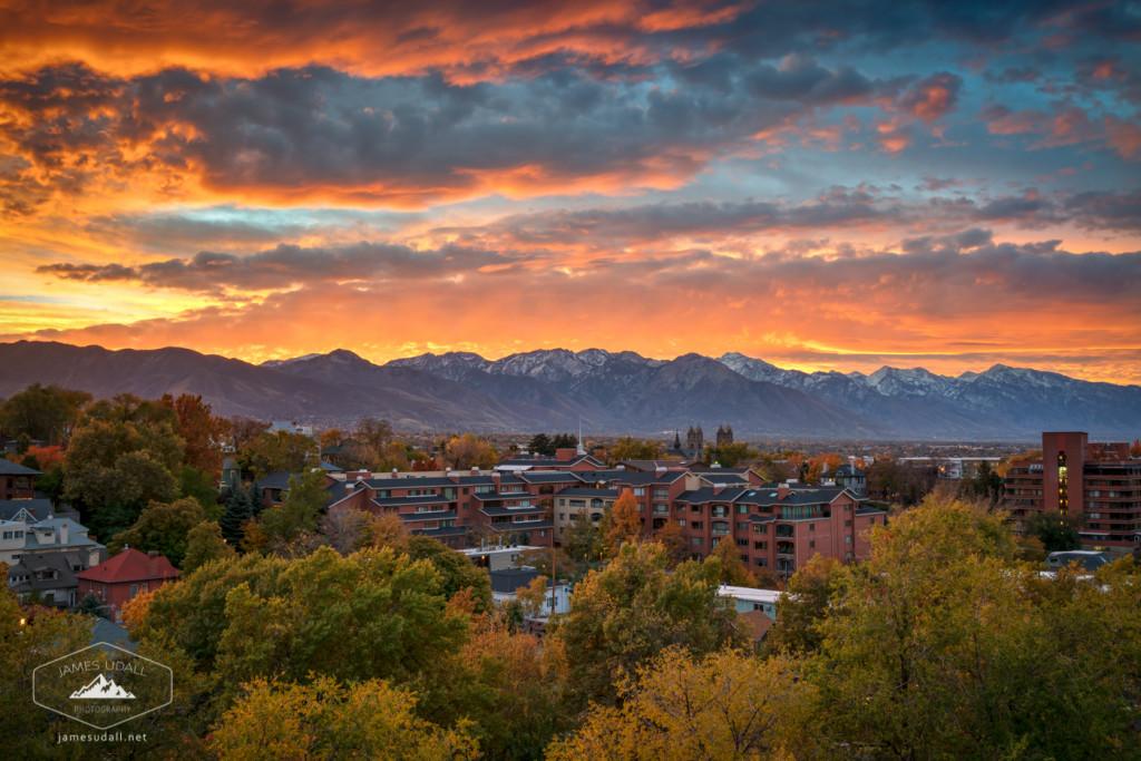Autumn Sunrise in Salt Lake City