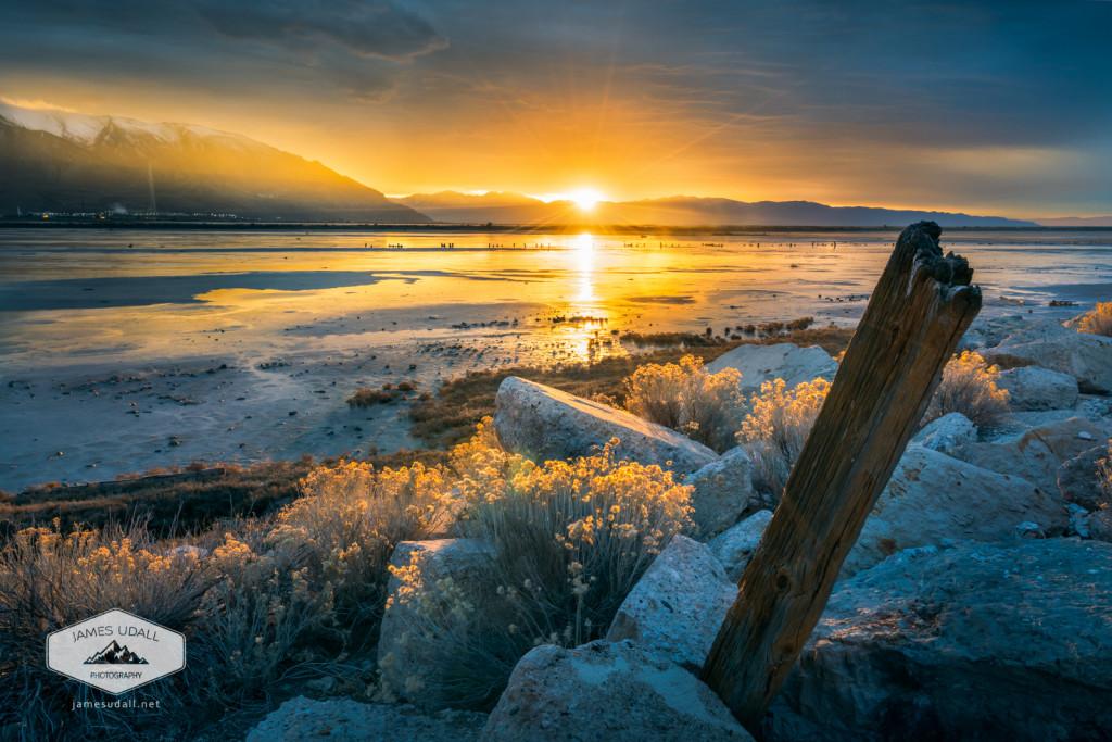 Sunset at the Great Salt Lake