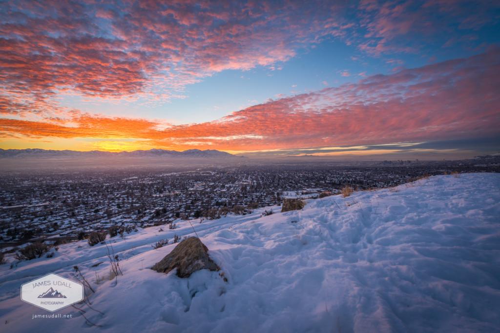 Sunset in Salt Lake City, Utah