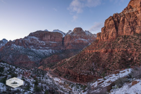 Dusk in Zion Canyon