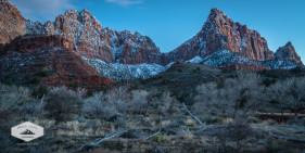 Night Falls on Zion National Park
