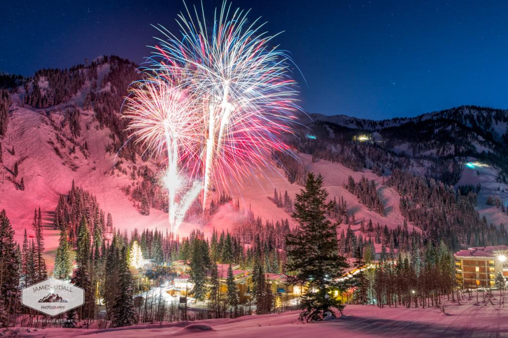 Fireworks celebration at Snowbird Resort near Salt Lake City.