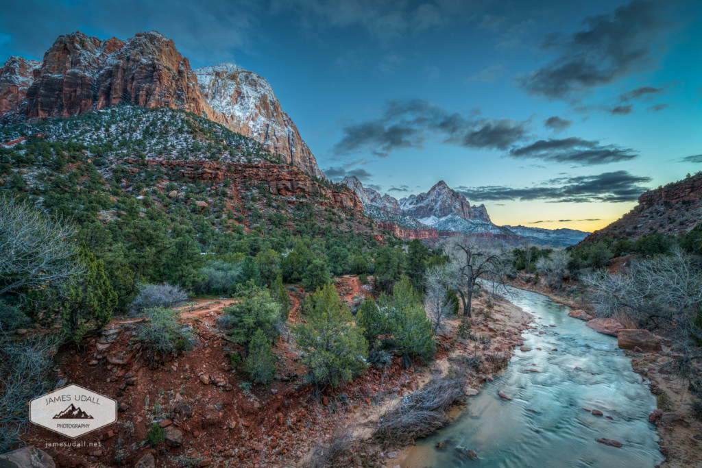 Winter Dusk at Zion National Park