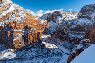 Atop Angels Landing in Winter