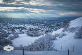 Ensign Peak Trail in Winter