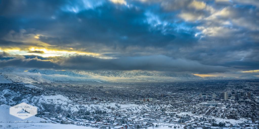 January Morning in Salt Lake Ciry