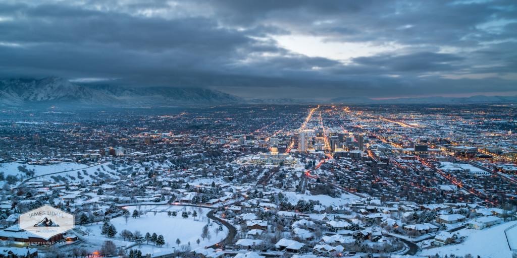 Salt Lake City in Winter