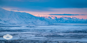 Looking on the Tooele Valley at Sunrise