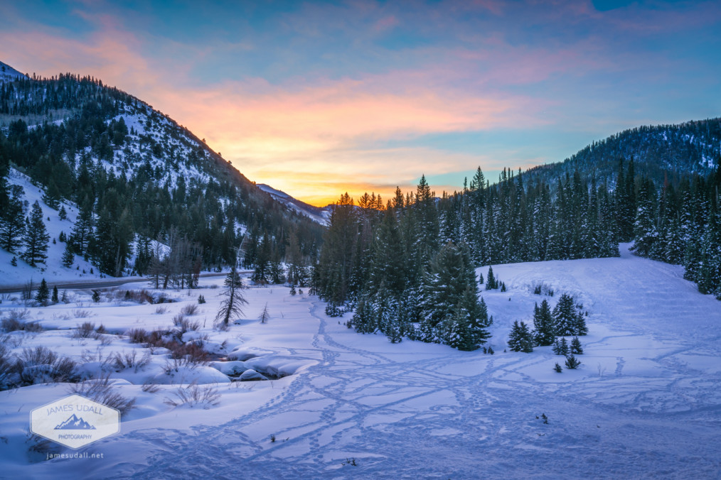 Winter Sunrise in Big Cottonwood Canyon, Utah