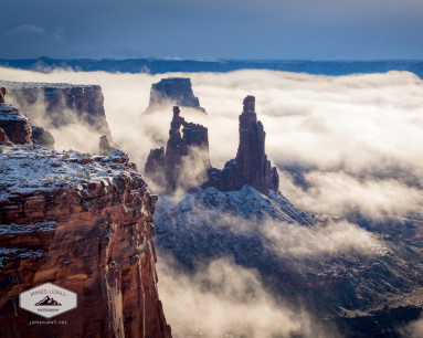 Foggy Morning at Canyonlands