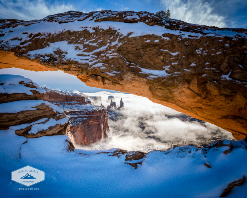 Mesa Arch in the Snow