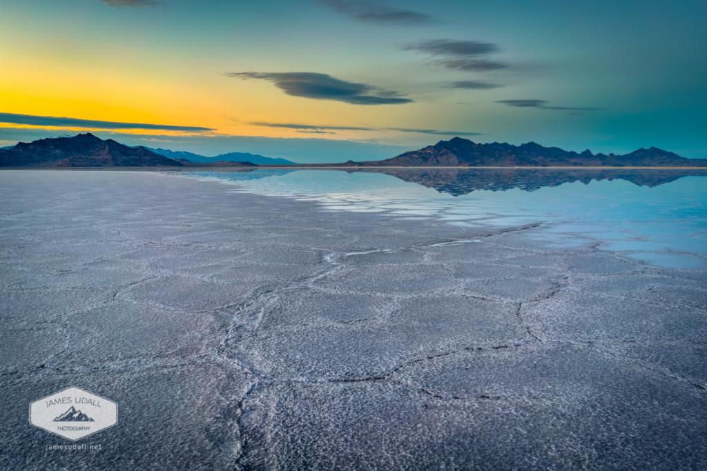 Dusk at the Bonneville Salt Flats