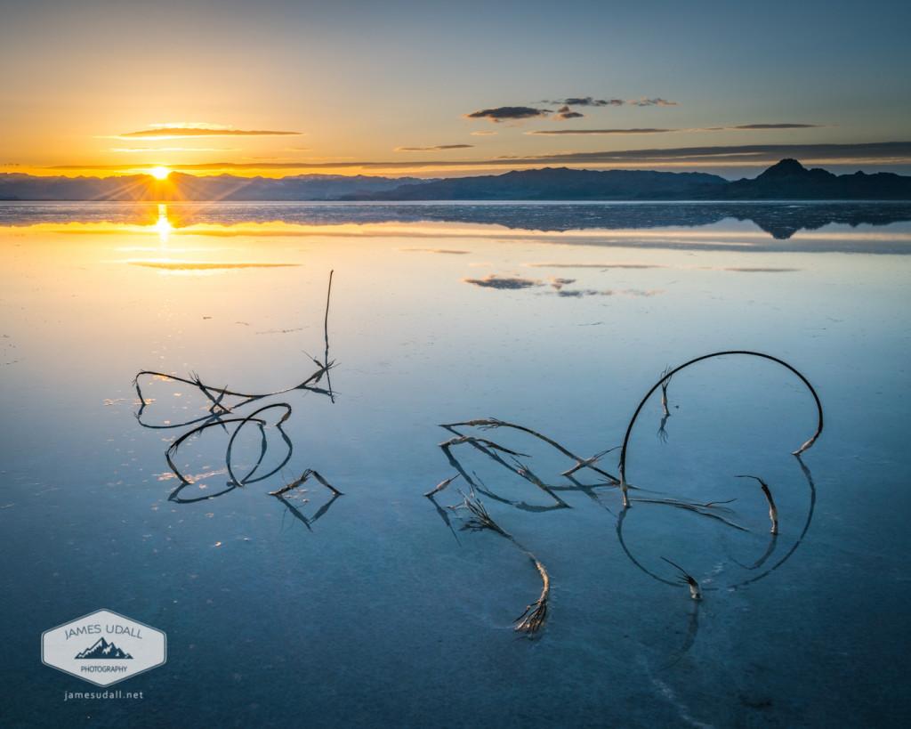 The Sun Setting at the Salt Flats
