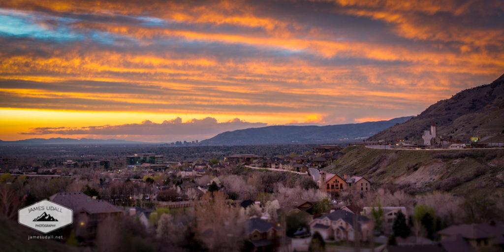 Salt Lake Valley April Sunset