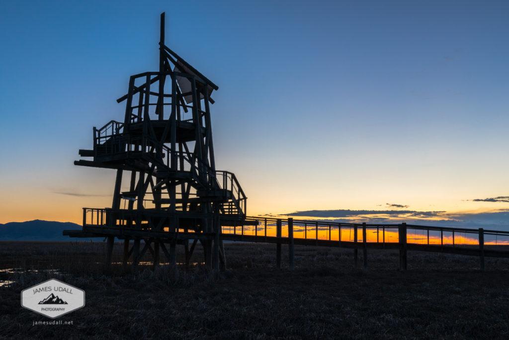 Sunset at Great Salt Lake Shorline Preserve