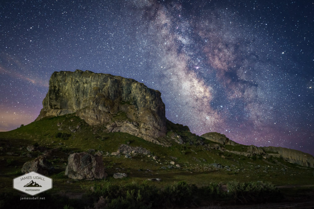 Lone Rock and the Milky Way