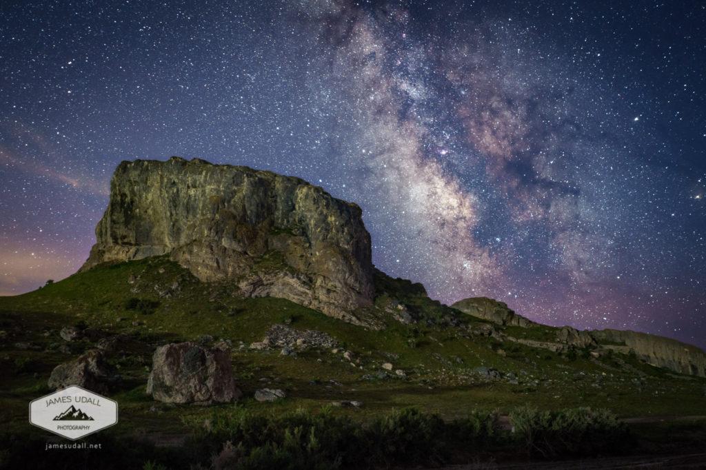 Lone Rock and the Milky Way in skull Valley, Utah