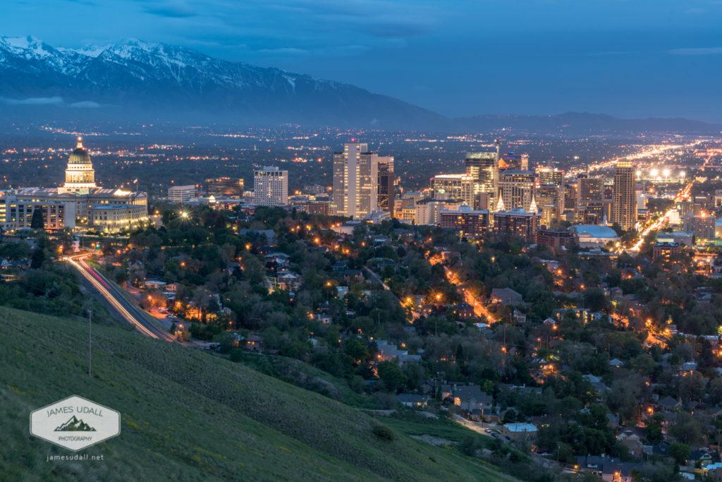 Spring Night in Salt Lake City