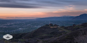 The Salt Lake Valley at sunset.