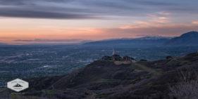 The Salt Lake Valley at sunset.