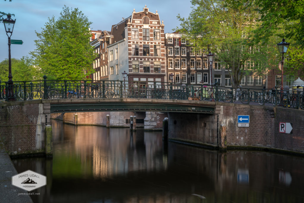 Quiet Bridge in Amsterdam