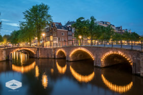 Lights on Amsterdam Bridge