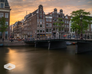 Sunset along an Amsterdam CanalSunset along an Amsterdam Canal