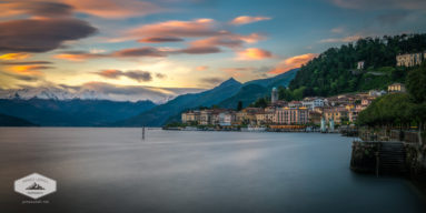 Sunset in Bellagio on Lake Como