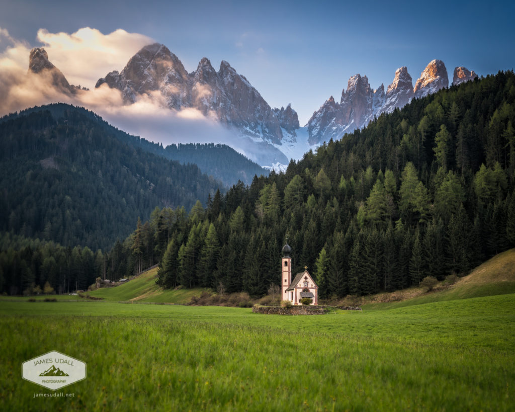 St. Johann Church in Val di Funes