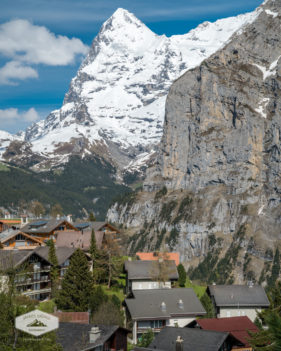 Eiger seen from Murren