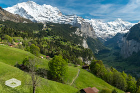 Lauterbrunnen Valley from Above