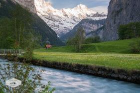 Lutschine River through the Lauterbrunnen Valley