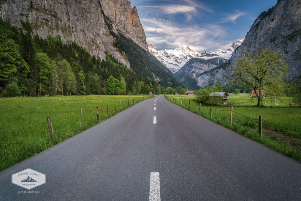 Road Through Lauterbrunnen Valley